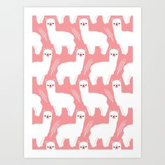 The Alpacas II Art Print