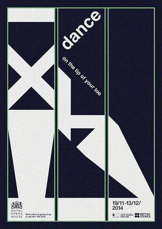 Ballet Grid Posters on Behance #swiss #ballet #deance #grid #minimal #poster
