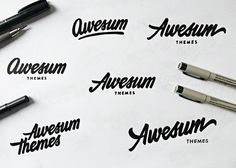 Awesum Themes by Paul von Excite #lettering #design #logo #hand #typography