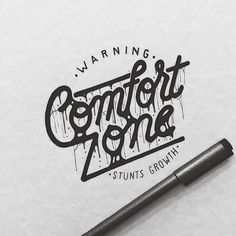 Good lettering, getting out of your comfort zone is also about getting away from the computer. #lettering