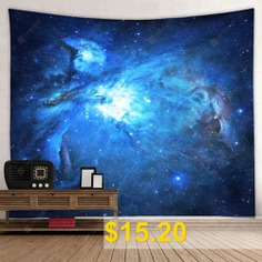 Cosmic #Galaxy #Starry #Printed #Polyester #Tapestry #- #BLUEBERRY #BLUE