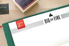 Dig for Fire Identity Materials - FPO: For Print Only #logo #design #identity #branding