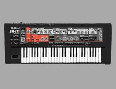 All sizes | Roland SH-201 | Flickr - Photo Sharing! #keyboard #illustration #gray #music #drawing