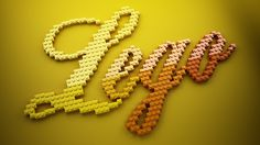 LEGO Lettering on Behance #typography #lettering #lego