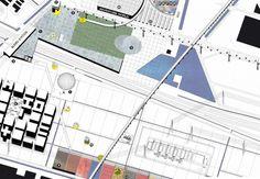 General plan, detail. OMA presents masterplan for Floriade 2022 #urban