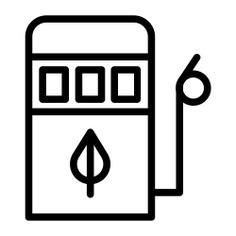 See more icon inspiration related to eco fuel, ecology and environment, gas station, industry, leaf, petrol, electricity, energy, gasoline, fuel and nature on Flaticon.