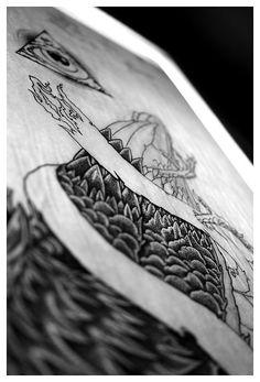 Black and White Illustration Close up #white #black #illustration #and #rendered #hand