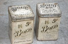 Typeverything.com - Bold Vintage Tins (Via such... - Typeverything #tins #packaging #bold #vintage #typography