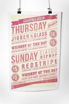 Cocktail tavern type poster and mirror decal on the Behance Network #design #graphic #poster #typography