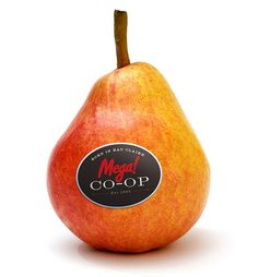 Having a great brand sometimes means growing a pear #branding #packaging #design #food #brand #identity #logo #gourmet #typography