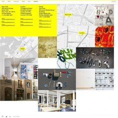The website design showcase of Wolff Olins. #design #grid #layout #website