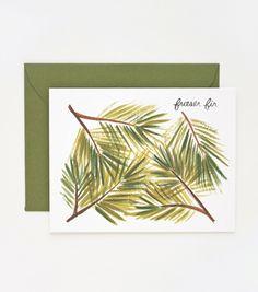 Fraser Fir Card #fir #green