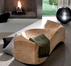 Solid Cedar Loveseat By Jake Phipps #tech #flow #gadget #gift #ideas #cool