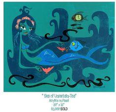 seaofuncertaintea.jpg 576×552 pixels #illustration #mermaid