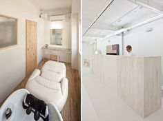 yasunari tsukada design: end...link beauty salon #white #wash