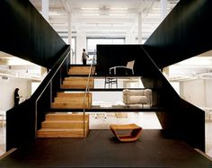 All sizes | Head_On Basement | Flickr - Photo Sharing! #steel #design #black #studio #stair #universal