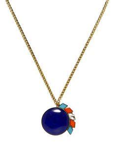 Anton Heunis Oversized Lapis #blue #geometric #necklace