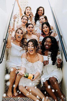 wedding photo checklist bridal shower party happy friends