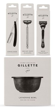 Gillette redesign (student work) #nice