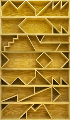 Seven Stacked Benches (after shelves), 2012 Plywood RO/LU 18 × 72 × 18 in 45.7 × 182.9 × 45.7 cm