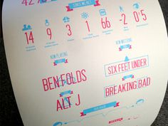 Wedding info graphics 2 (Screen printed)