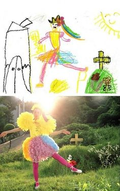Children's Drawing Brought to Life - Chill Out Point #photography #childrens #drawing