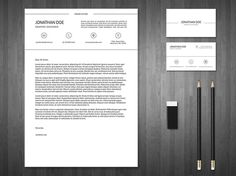 Free Minimal Resume and Business Card Template With Elegant Design