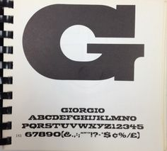 Daily Type Specimen | Giorgio, an antique with flat tops and bottoms.... #font #specimen #type #typography
