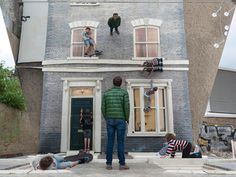 2 dalston house installation by leandro erlich #mirror #inception #installation