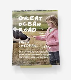 Great Ocean Road Dairy #ocean #warrnambool #dairy #cheese #packaging #cheddar #road #and #great #typography