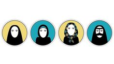 Tesi di laurea / 2011 on the Behance Network #icon #women #illustration #iran