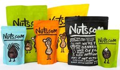 Nuts.fun - Brand New #playful #bright #nuts #packaging #handwriting #fresh