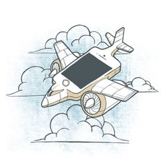 Airplane mode  #airplane #iphone #mobile #illustration #art