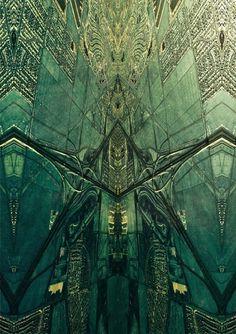 Cargo #abstract #non #shapes #mirror #sense #green