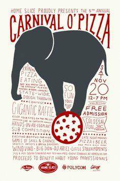 carnival o' pizza « #illustration #poster #circus