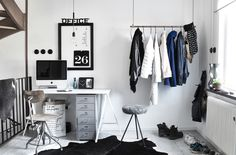 Black and white minimalistic home furnishing