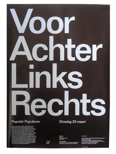 almost Modern : Populair Populisme #poster