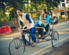 post wedding shoot - Ride with Your Partner