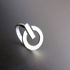 Power Button Silver Ring #tech #gadget #ideas #gift #cool