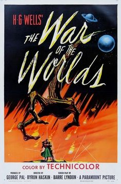Cool Vintage Movie Posters | Cruzine #vintage #poster #50s #aliens #war #of #the #worlds