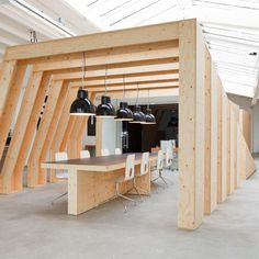 OneSize by Origins Architects #wood #material #space #work