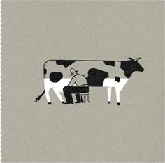 Illustation by Pablo Amargo via nfgraphics.com - Designers Go To Heaven #illustration #cow