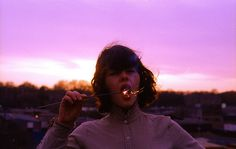 Maren Celest; http://off-the-wall-b.tumblr.com/ #sparkler #celest #maren #fireworks #purple #mouth