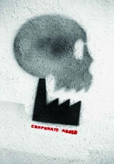 Tumblr #graffiti #corparate #abuse #stencil #illustration