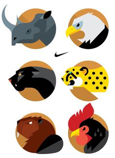 NIKE Animal Badges Always With Honor #badges #nike #animal