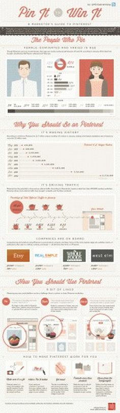 Marketing on Pinterest | A Marketer's Guide to Promoting Content on Pinterest [Infographic] #marketing #pinterest #infographic #illustration #type