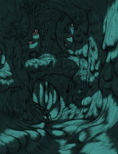 Jesse Balmer #exploration #illustration #cavern #cave