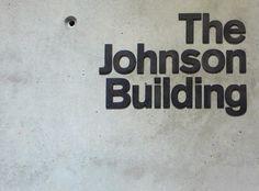 The Johnson Building signage | Cartlidge Levene #signage #type #typography