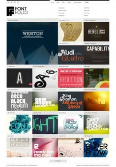 The website design showcase of FontFolio. #grid #webdesign #typography