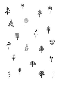 christmas christmas #illustration #trees christmas icons